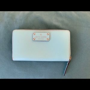 Authentic Tiffany blue Kate spade wallet